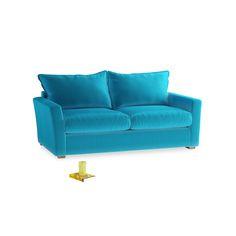Medium Pavilion Sofa in Azure Plush Velvet 157029 Loaf