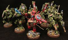Farsight bein Farsight with his boys. Strongly considering repainting my army Farsight Enclave colors #Tau #40k
