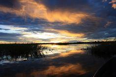 Sunset, Okavango Delta, Botswana