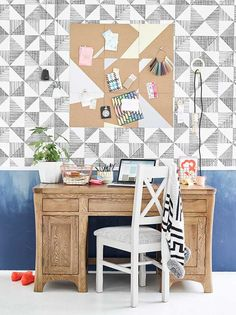 orrick desk in a creative work space with mix and match chair