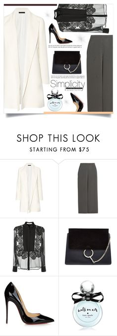 """""""Untitled #262"""" by d-meggy ❤ liked on Polyvore featuring The Row, Temperley London, Givenchy, Chloé, Christian Louboutin and Kate Spade"""