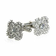 Antique Styled Cufflink Set with Clear Crystal Cuff-Daddy. $29.99. Arrives in hard-sided, presentation box suitable for gifting.. Made by Cuff-Daddy. Save 63% Off!