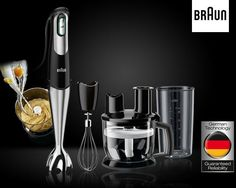 The Braun MQ Stainless Steet Hand Blender (775 750 W) is available here at the best price in online shopping and, just like every product we sell, is a 100% genuine product. It has the following specifications:  Brand: Braun MQ  Type: Hand Blender Material: Stainless Steet