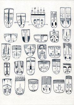 #Mask #Africa #illustration #draw #drawing #face #fineline #artist Africa, Drawings, Face, Illustration, Artwork, Artist, Masks, Shop, Etsy
