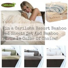 Experience The Luxury Of Cariloha Bamboo Sheets With The Born 2 Impress Giveaway! Win Cariloha Bamboo Sheets and Bamboo Throw - Open to the US and Canada.