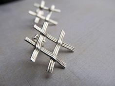 Free From Argentium Sterling Silver Stud by phoenixmtncreations