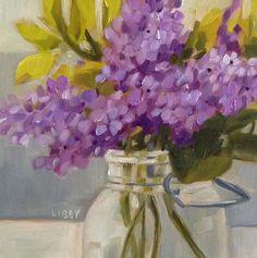 """Petite Lilac"" original fine art by Libby Anderson"