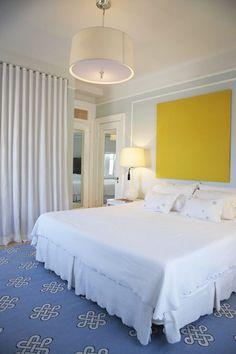 Madeline Weinrib Light Blue Megan Cotton Carpet via Dwellers without Decorators