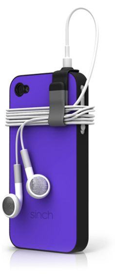 The Sinch case! FInally tangle free earbuds. Love it!