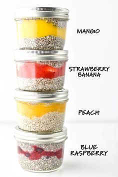 These Chia Pudding Breakfast Parfaits are dairy & gluten-free, sweetened only with a bit of maple syrup, and perfect for breakfast meal prep! chia pudding Chia Pudding Breakfast Parfaits Four Ways Chia Pudding Breakfast, Protein Pudding, Breakfast Recipes, Protein Pancakes, Free Breakfast, Good Healthy Recipes, Healthy Foods To Eat, Healthy Snacks, Dinner Healthy