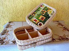 Krabice ČAJ se šesti přihrádkami A box of TEA with six compartments