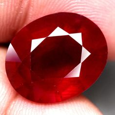 13.92Ct.15.8x12.9mm. Ravishing! Natural Ruby Oval Facet Top Blood Red Madagascar #Gemnatural