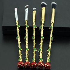 The Enchanted Rose Makeup Brush Set