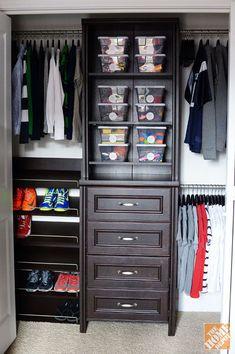 A closet organizer system to tame clutter #closetorganizer
