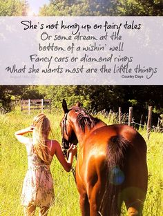 she's not hung up on fairy tales ... what she wants most are the little things. girl. horse. fence. photography.