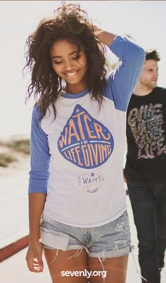 Shop for a cause this week! This shirt helps fund clean water wells in Ethiopia, learn more and shop guilt free at http://www.sevenly.org/?cid=InflPinterest0002Matt