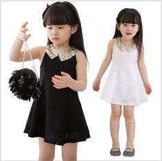 9 Months Black Dress with Embroidered Floral Lacy Black Girl Tutu - My favorite children's fashion list Girls Black Dress, Little Girl Dresses, Girls Dresses, Flower Girl Dresses, Lace Dresses, Black Girls, Dress Black, Party Frocks, Tutus For Girls