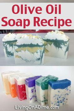 Homemade Olive Oil Soap Recipe