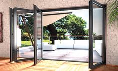 http:/The bi fold doors in Kent are on demand because of their fantastic look and comfortable features. Everyone wishes to have such beautiful and stylish doors at its home or commercial building. Unique Garage Doors, Garage Door Windows, Glass Garage Door, Patio Doors, Windows And Doors, Door Design, House Design, Timber Staircase, Metal Carports