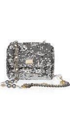 Dolce & GabbanaSequined leather shoulder bag