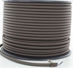 18/3 AWG. BROWN AND BLACK SWIRL PATTERN SVT NYLON CLOTH FABRIC OVER BRAID PENDANT LAMP WIRE, SOLD BY THE FOOT.  BRAIDED IN USA! - 105 deg. C - 300 Vac. - FT2 Flame Appliance Wiring Material UL 758 U.L. File E357805 Flexible Cords and Cables, UL 62.