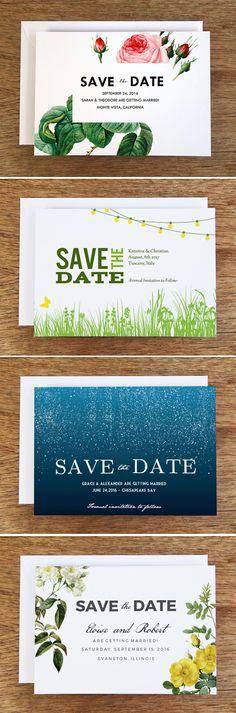 Free Printable Save the Dates from e.m.papers. Pick from over 36 beautiful on-trend designs. Just download the PDF, enter your Save the Date wording, print and cut. You can also create a screenshot and send your Save the Date as an email (link to the tutorial in the blog post).  #savethedate