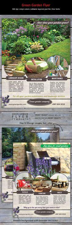 Modern flyer for landscaping business, garden center or furniture store. http://graphicriver.net/item/green-garden-flyer/8314613?WT.ac=portfolio_thumb&WT.z_author=designities
