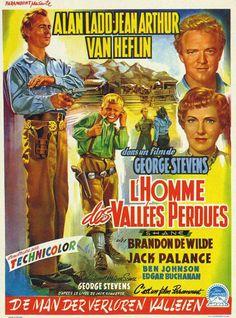 ALAN LADD - JEAN ARTHUR - VAN HEFLIN -SHANE - L'HOMME DES VALLEES PERDUES - (GEORGES STEVENS 1953)