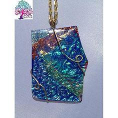 $25.00 Neck Art Pendant Green and Orange by NeckArt on Handmade Australia