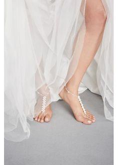 Pearl Stretch Foot Jewelry at David's Bridal