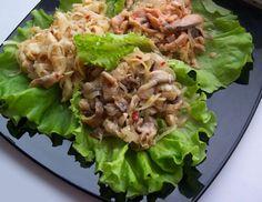 Салат из грибов с помидорами