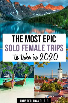 , The Most Epic Solo Female Trips to take in 2020 Best Solo Female. , The Most Epic Solo Female Trips to take in 2020 Best Solo Female Travel Destinations Now that you have my best tips for traveling solo. Top Travel Destinations, Best Places To Travel, Amazing Destinations, Cool Places To Visit, Travel Diys, Shopping Travel, Cheap Travel, Travel Packing, Holiday Destinations