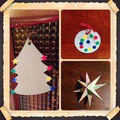 Adornos navideños papel y gomets