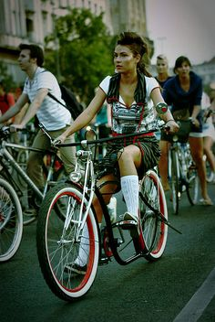 ♂ new style girl on a bike
