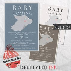 Change it to a horse and we're all set! Game Of Thrones Baby Shower Invitation by RedHeadedInk on Etsy