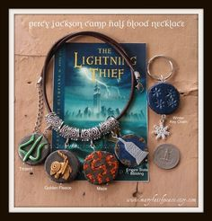 an authentic clay bead necklace worthy of any Percy Jackson fan #percy jackson #demigod #camp half blood #greek #mythology #poseidon #rick riordan