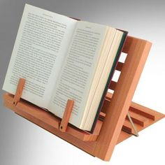 Book Holder – Wooden Reading Rest Free up your hands while reading! Beautifully crafted from Canadian Alder, the Wooden Reading Rest is fully adjustable, yet folds flat and is easy to carry. Book Holder Stand, Book Holders, Book Stands, Wooden Book Stand, Wood Book, Woodworking Shop, Woodworking Crafts, Diy Wood Projects, Wood Crafts