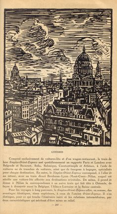 London vintage woodcut illustration WOW