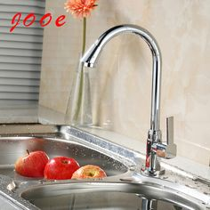 Find More Kitchen Faucets Information about Jooe Single handle kitchen sink faucet chrome single cold water tap torneira de cozinha robinet cuisine griferia cocina,High Quality faucet cleaning,China tap rubber Suppliers, Cheap faucet aerator from Rich Abundant Furniture Supplies on Aliexpress.com