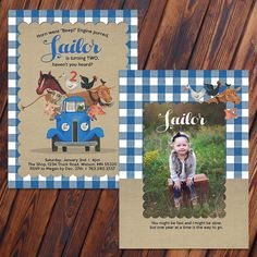 14 best little blue truck birthday party images on pinterest first customized little blue truck birthday invite option to add photo filmwisefo