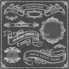 Chalkboard Elements Set Royalty Free Stock Vector Art Illustration