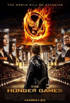 The Hunger Games poster.