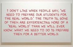 Prepare your students for a better world.
