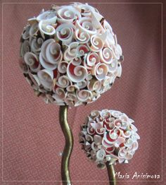 Topiary of shells by TopiaryToys on Etsy, $60.00
