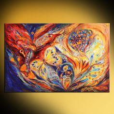 """Elena Kotliarker The Chagall Dreams 2014 Acrylic 41"""" x 27"""""""