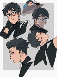 "trashwavu: "" Twitter doodle of my new son Yuuri! He is so precious! Pls don't break his heart! ;_;) """