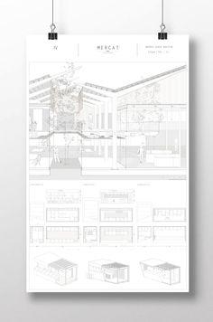 Andrés Jover. Mercat Farinós. PFC | #PFC #Panel #Architecture #Arquitectura #Design #InteriorDesign #Competition #Presentation #Magazine #Idea #Project #Render #Market #Marketdesign #Architecturedesign