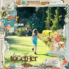 fabulous #scrapbook page by lizj using StudioDD edgers at #designerdigitals