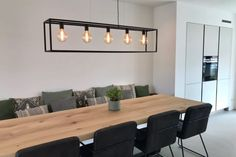 32 Stunning Wood Home Decoration Ideas that You Will Adore - The Trending House Dining Table With Bench, Dining Area, Home Decor Baskets, Vintage Industrial Decor, Küchen Design, Dining Room Design, Home Living Room, Room Inspiration, Room Decor
