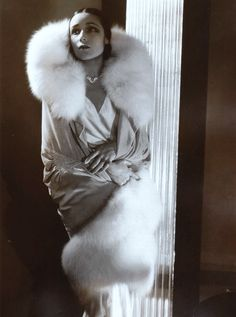 Beautiful Fashion of the 1920s- Actress Dolores del Rio photographed by Edward Steichen, 1929.